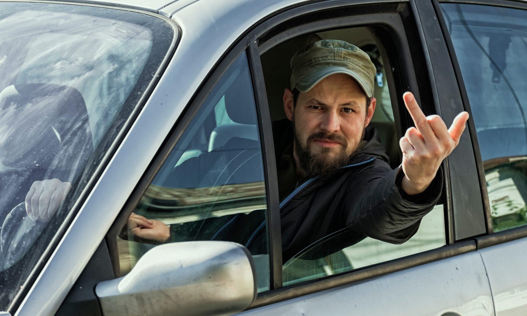 Illustration des gens qui te collent au cul en voiture